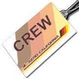 Aero California Crew Tag